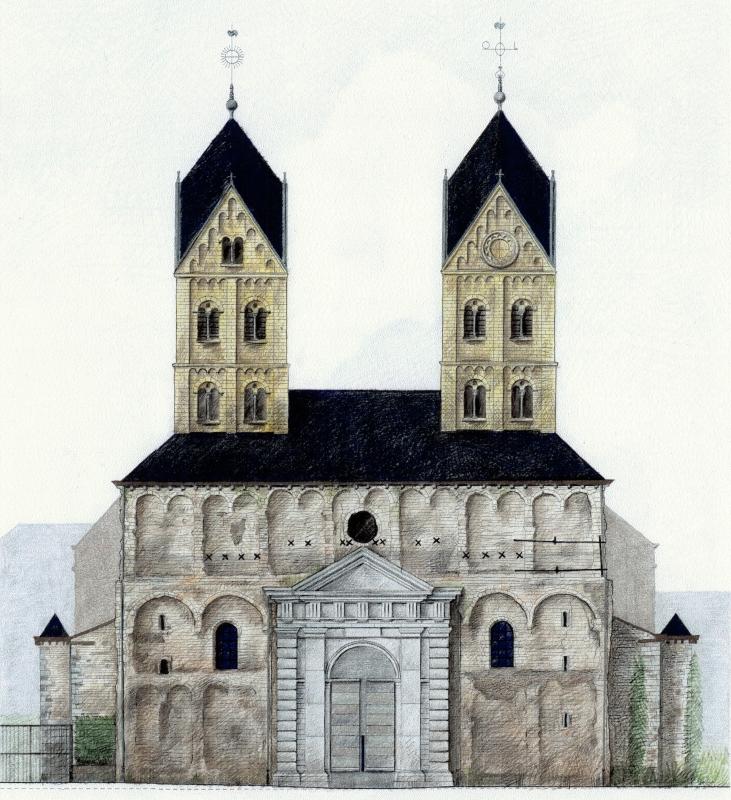 Cabinet d\'architectes - Collégiale Saint-Barthélemy