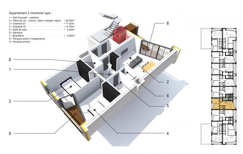 cabinet d 39 architectes immeuble pr aily. Black Bedroom Furniture Sets. Home Design Ideas